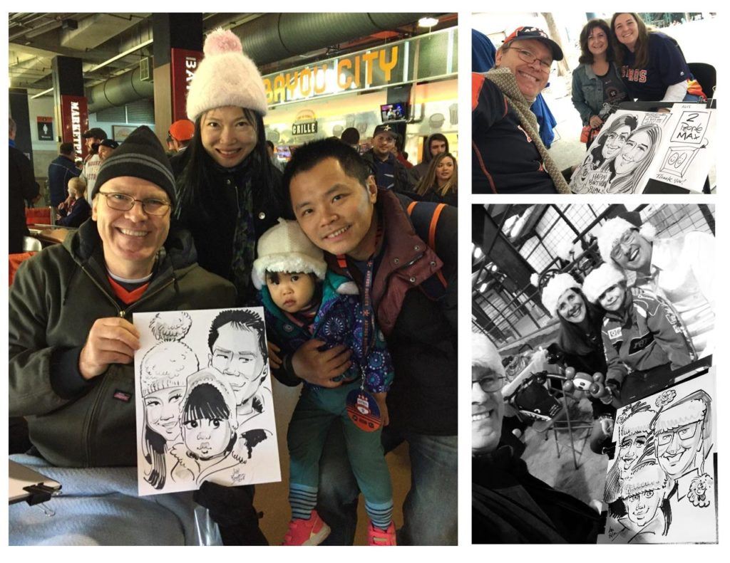 Houston's #1 Family Event Caricature Artist