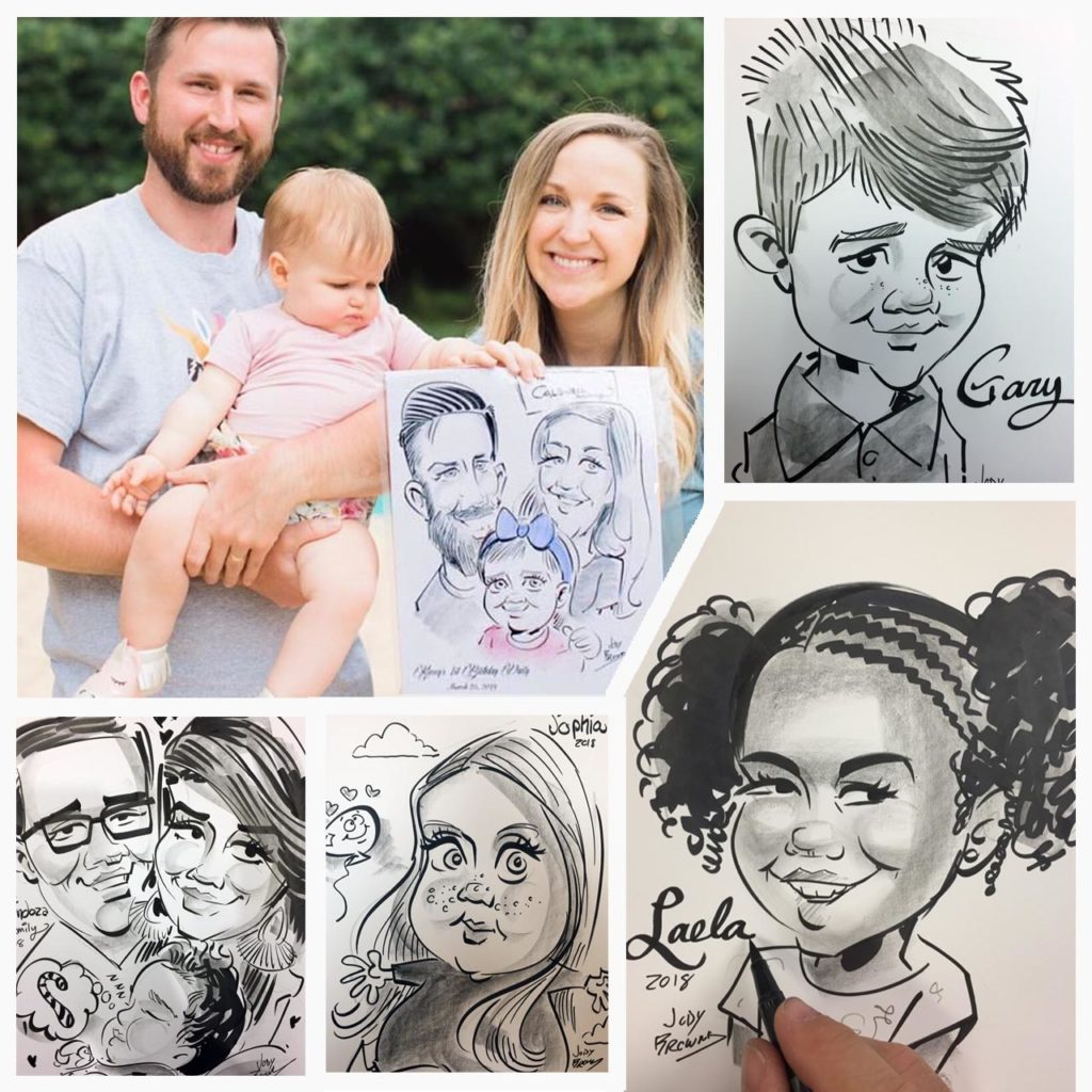 Childrens Parties with Caricatures by Jody