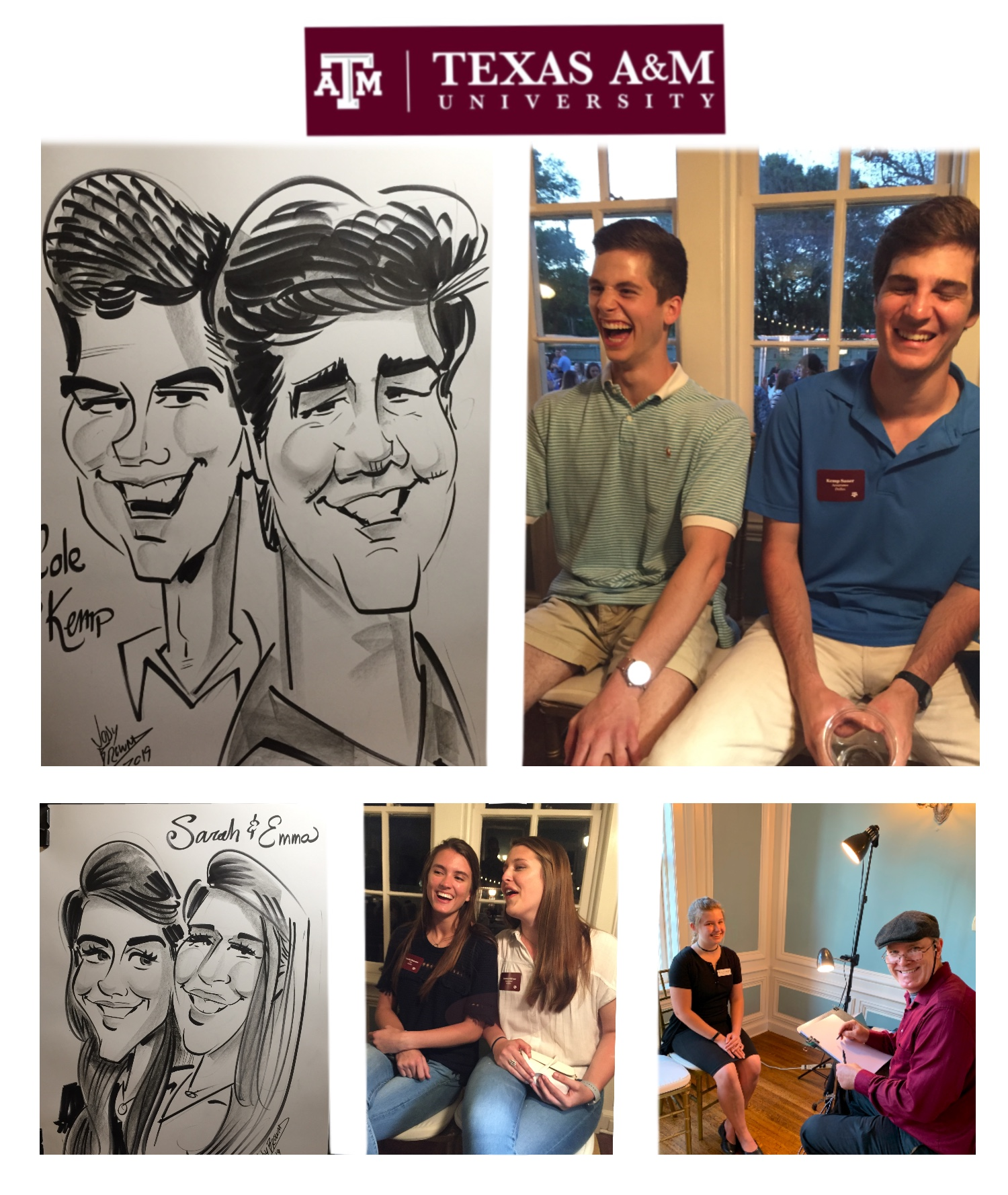 Texas A&M Caricatures