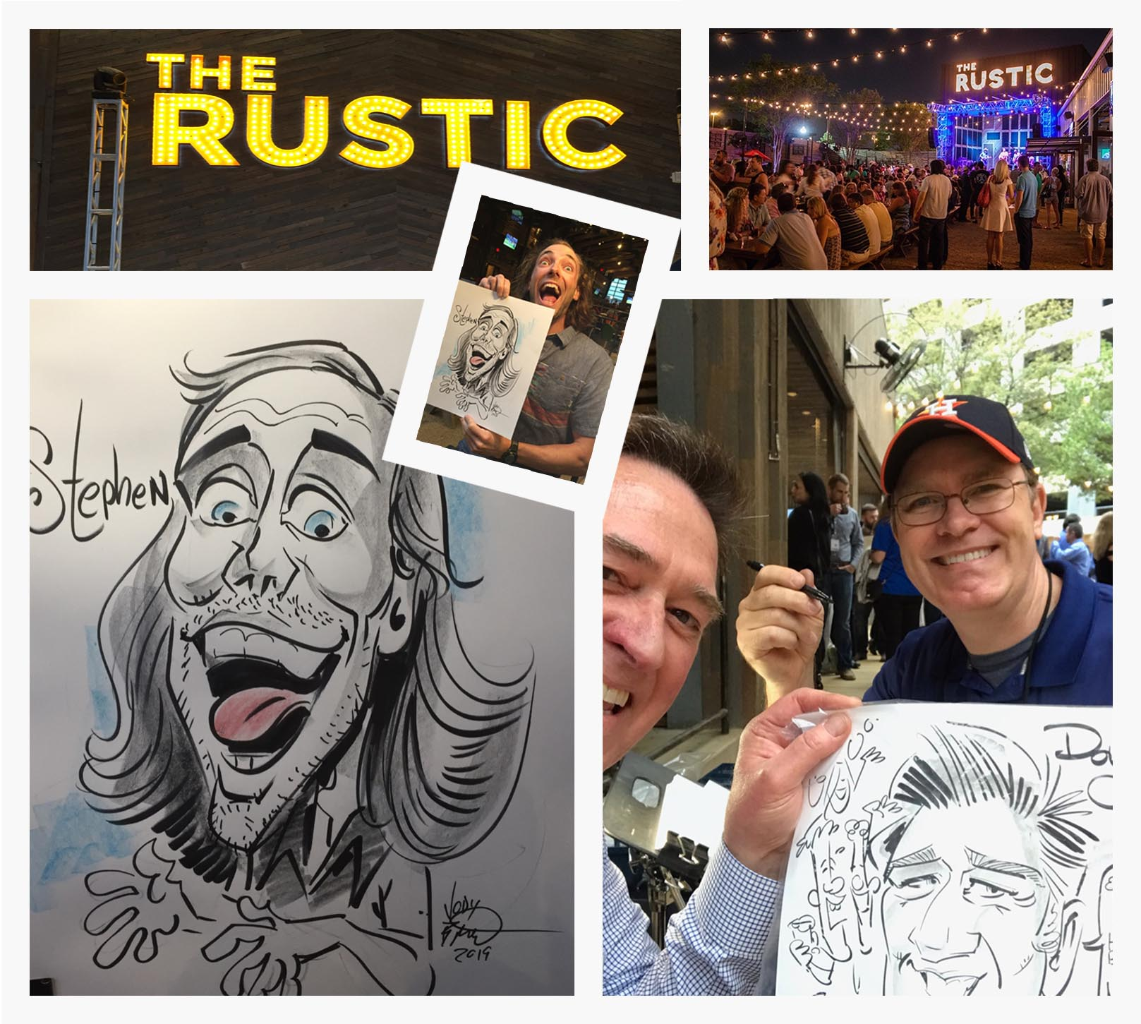 Corporate Events Dinner Events at the Rustic Caricatures Jody the Artist
