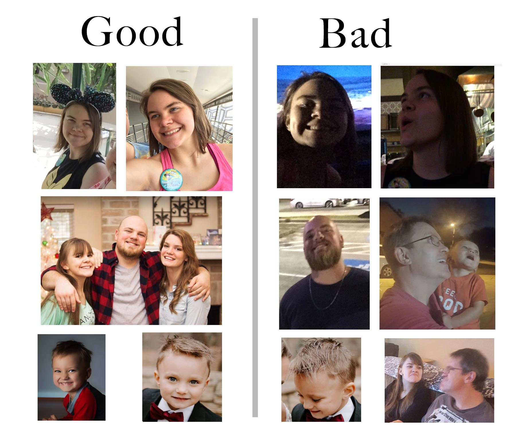 Good vs Bad Poses