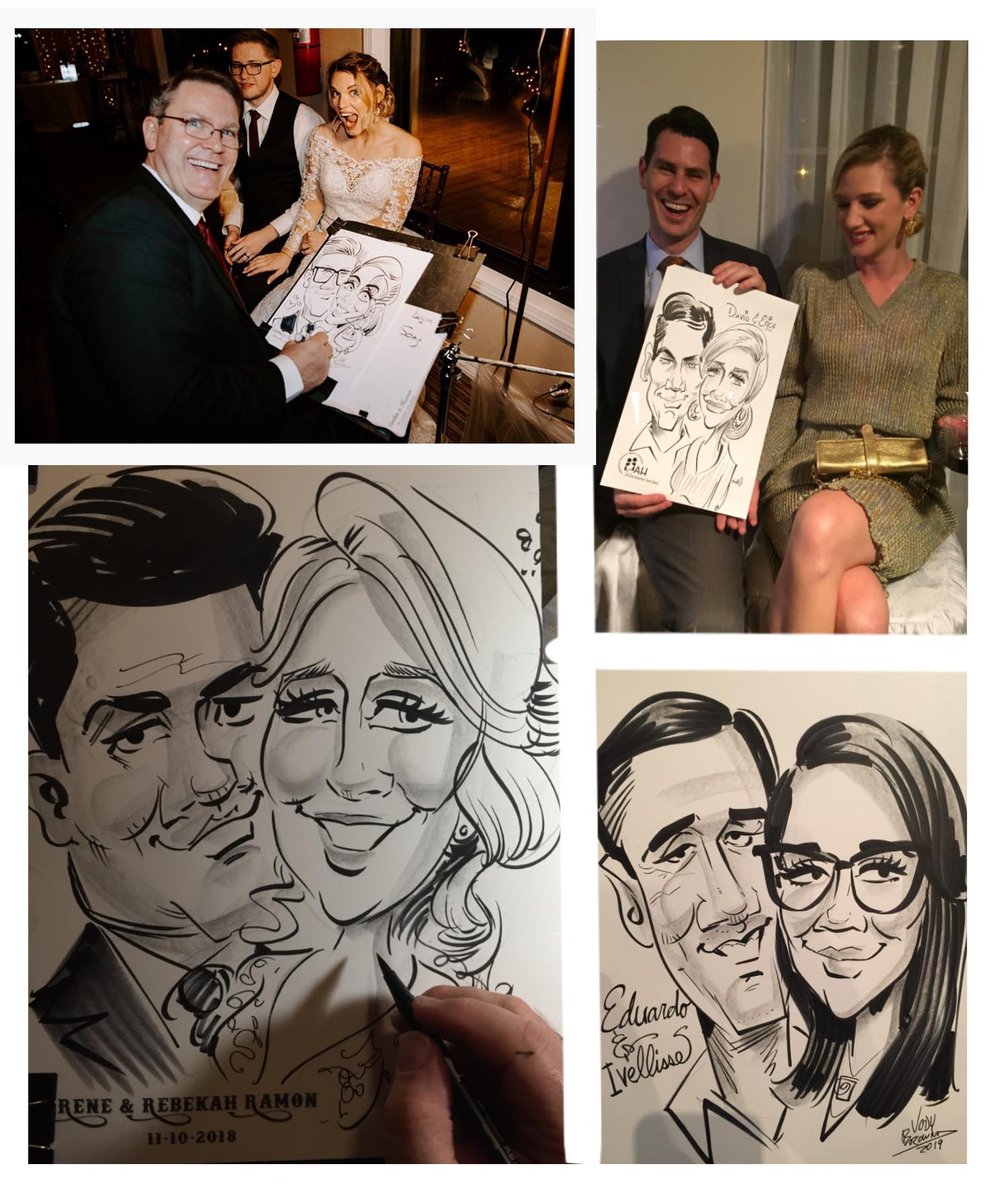 Wedding Carictures Houston Area