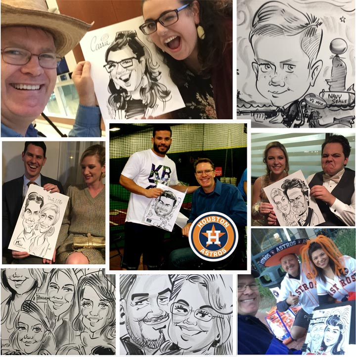 Houston's #1 Event Caricature Artist