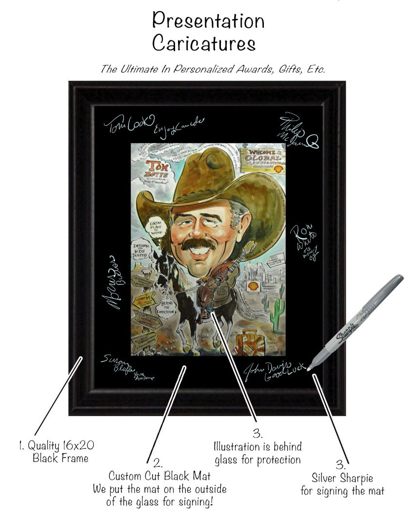 Presentation Caricature Framed