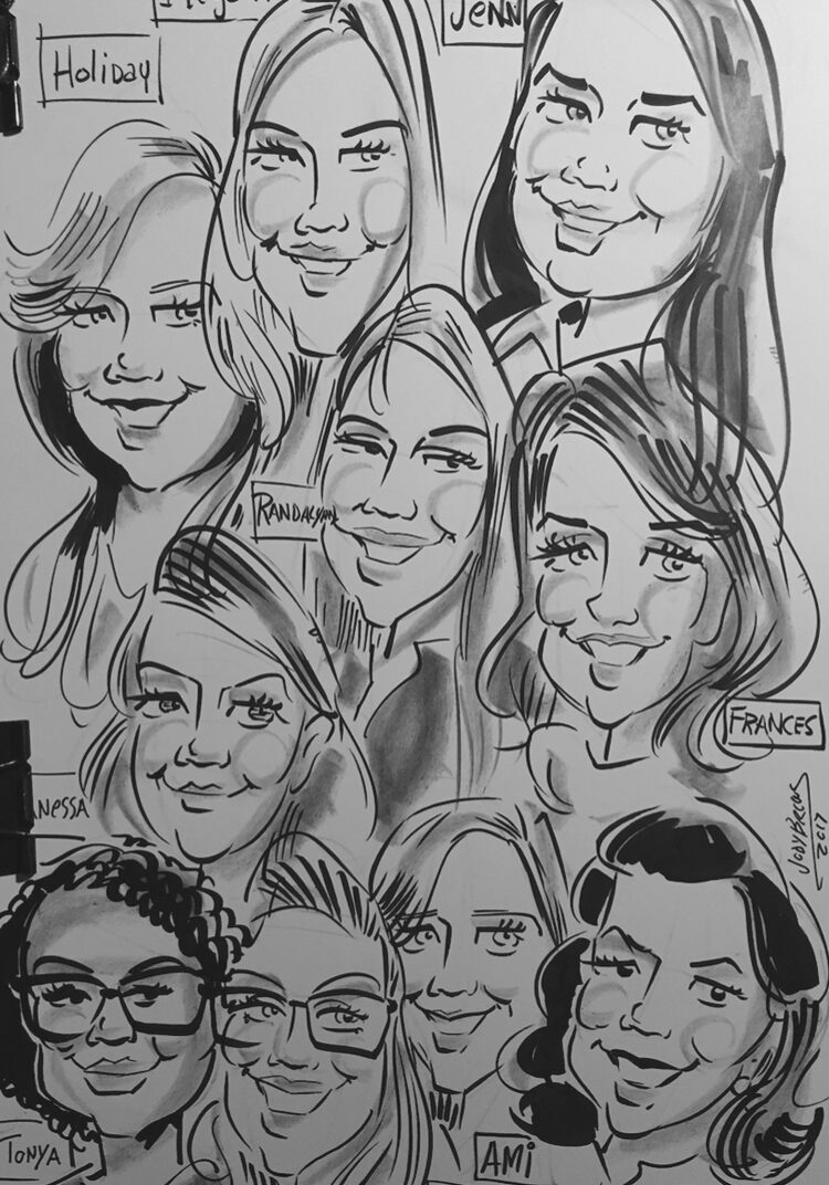 Affordable Group Caricature