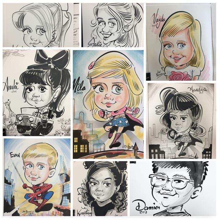 Child Care Center Caricatures